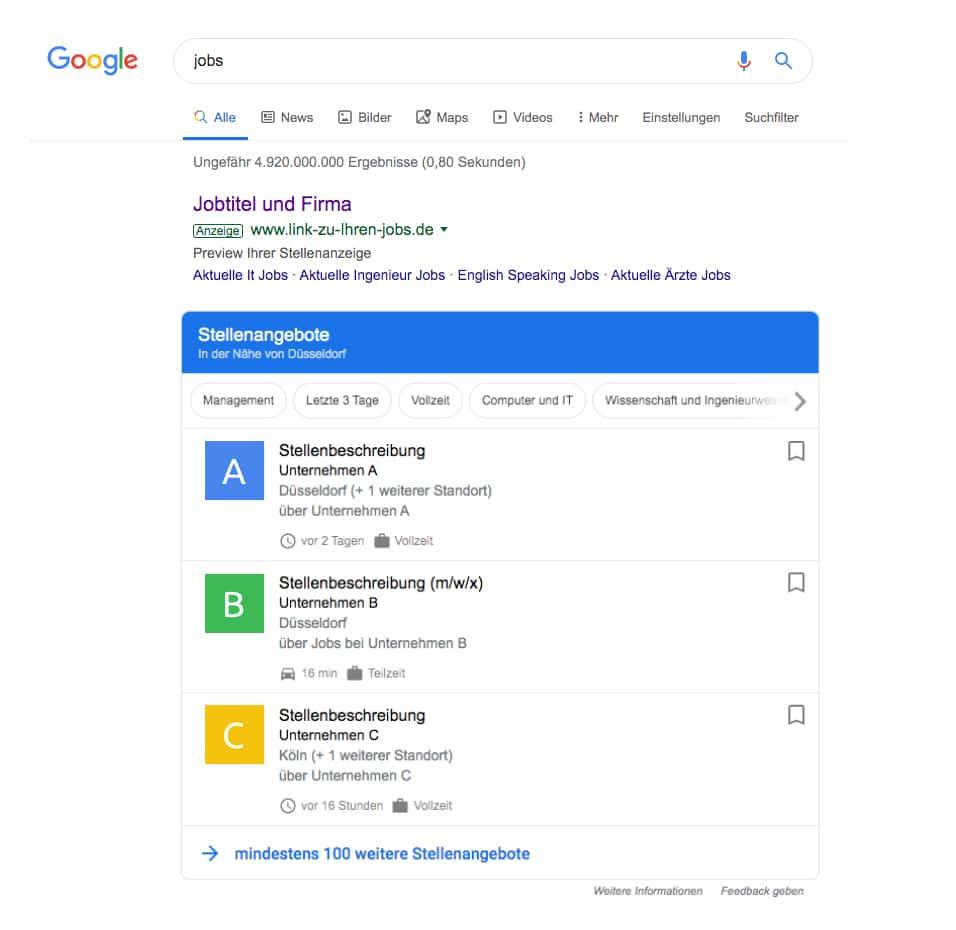 Google für Jobs